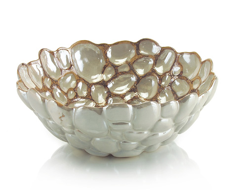 John Richard Collection - Pearl Crazed Pattern Bowl - JRA-8677
