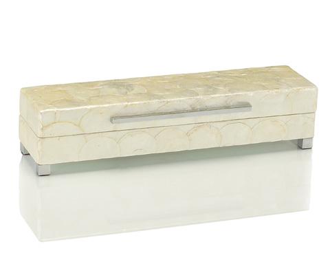 John Richard Collection - Short White Capiz Shell Box - JRA-8755