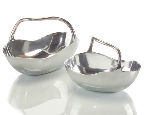 John Richard Collection - Polished Aluminum Baskets - JRA-8812S2