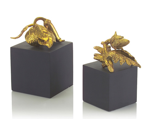 John Richard Collection - Brass Artichoke Bookends - JRA-8871S2