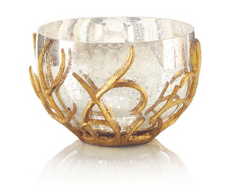 John Richard Collection - Gold Branch Encased Bowl - JRA-9114