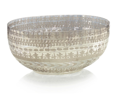 John Richard Collection - Etched Mercury Glass Bowl - JRA-9273