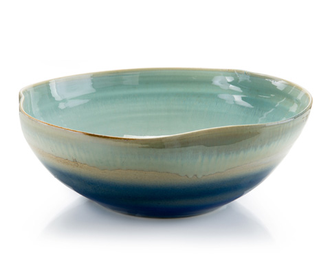 John Richard Collection - Shades of Nantucket Blue Bowl - JRA-9532