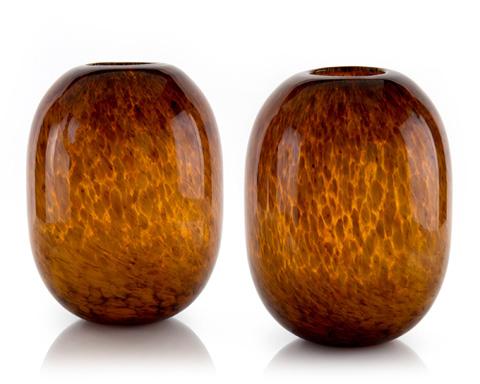 John Richard Collection - Tortoise Glass Vases - JRA-9540S2