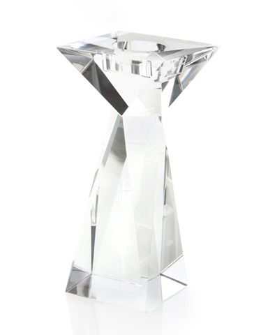 John Richard Collection - Tapered Crystal Candle Holder - JRA-9557
