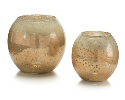 John Richard Collection - Carmel Glass Candle Holders - JRA-9668S2