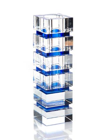 John Richard Collection - Blue Striped Vase - JRA-9771