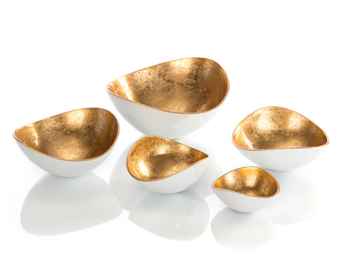 John Richard Collection - Gold Luster and White Bowls - JRA-9847S5