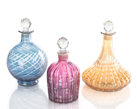 John Richard Collection - Glass Decanters with Stoppers - JRA-9848S3