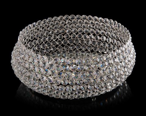 John Richard Collection - Crystal Bowl with Mirror Insert - JRA-9857