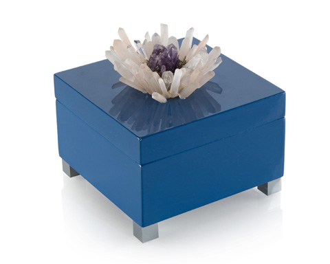 John Richard Collection - Indigo Blue Box with Quartz Accents - JRA-9868