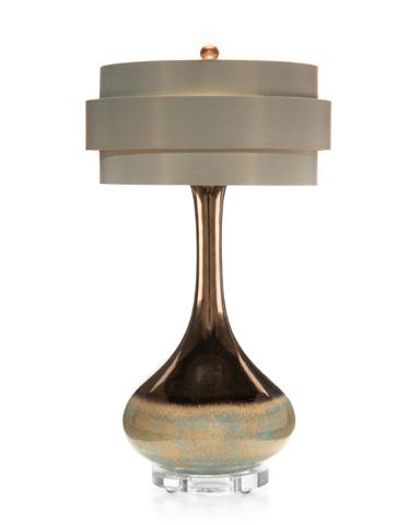 John Richard Collection - Teal Metallic Glazed Pottery Lamp - JRL-7938