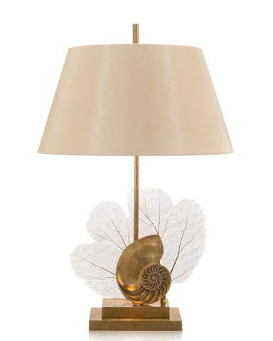 John Richard Collection - Brass Sea Fern and Shell Lamp - JRL-8175
