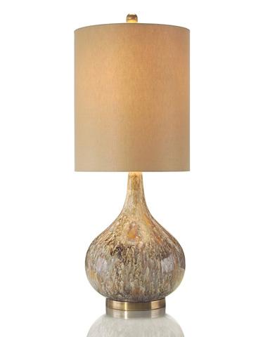 John Richard Collection - Drip Glaze Squatty Lamp - JRL-8457