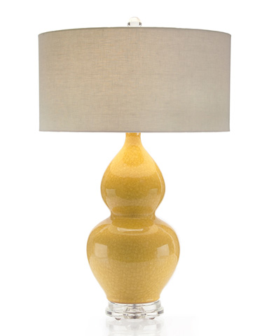 John Richard Collection - Ocher Double Gourd Ceramic Lamp - JRL-8791