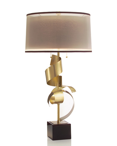 John Richard Collection - Brass Curls Table Lamp - JRL-8799