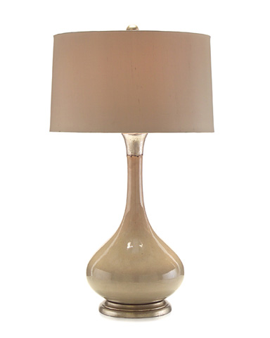 John Richard Collection - Oyster Colored Tone on Tone Lamp - JRL-8857