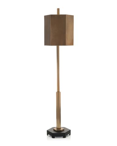 John Richard Collection - Brassed Hex Buffet Lamp - JRL-8928