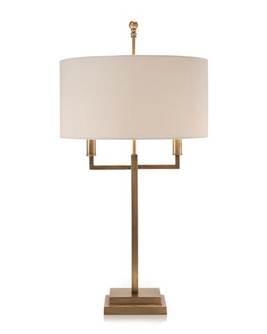 John Richard Collection - Honey Brass Two Arm Desk Lamp - JRL-8966