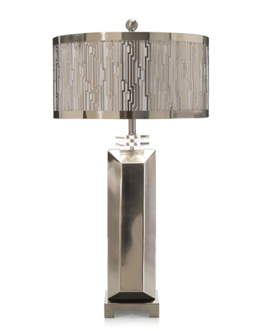 John Richard Collection - Steel Architecture Deco Lamp - JRL-8972