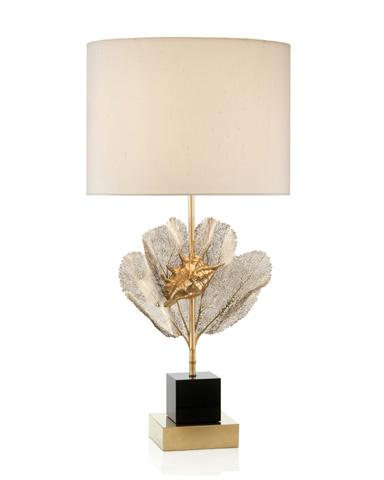 John Richard Collection - Brass Sea Fern and Seashell Lamp - JRL-8986