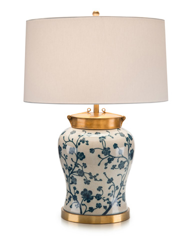 John Richard Collection - Blue Dogwood Table Lamp - JRL-9001