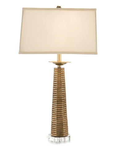 John Richard Collection - Octagonal Tiered Plynth Table Lamp - JRL-9053
