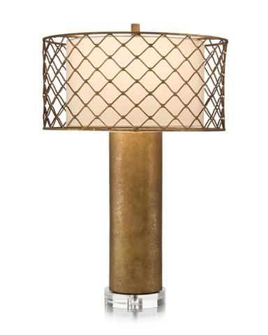 John Richard Collection - Gold Cylinder Table Lamp - JRL-9061