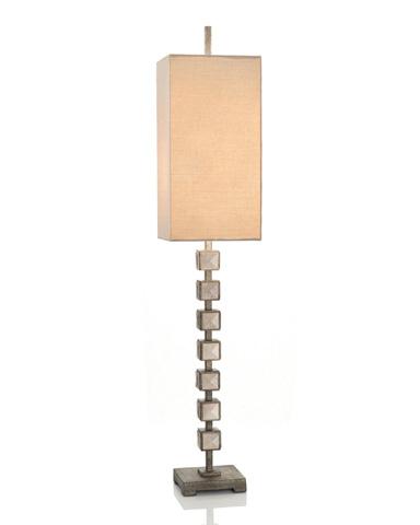 John Richard Collection - Mirror Blocks Buffet Lamp - JRL-9063