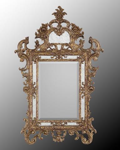John Richard Collection - Ornate Gold Wood Frame Mirror - JRM-0392