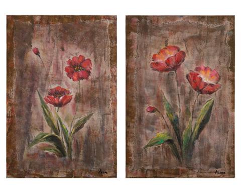 John Richard Collection - Azure's Red Flowers - JRO-2661S2