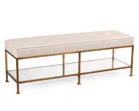 John Richard Collection - Maxwell Bench - AMF-1289-LTGY-AS