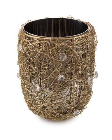 John Richard Collection - Crystal Gold Wire Encased Vase - JRA-9929