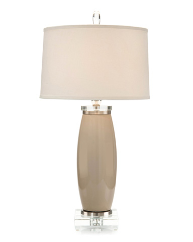John Richard Collection - Taupe Cylilnder Table Lamp - JRL-9162