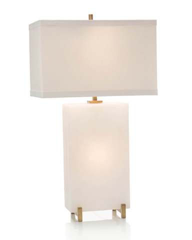 John Richard Collection - Alabaster Block Table Lamp - JRL-9196