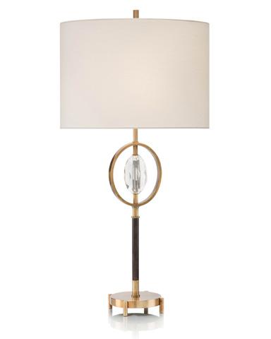 John Richard Collection - Brass And Crystal Table Lamp - JRL-9199