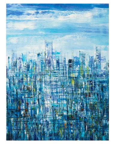 John Richard Collection - Jinlu's Blue Metropolis - JRO-2765