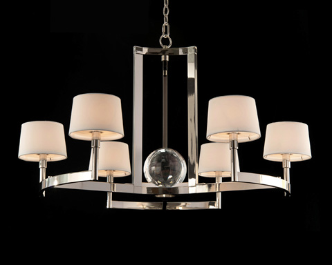 John Richard Collection - Polished Nickel Crystal Chandelier - AJC-8898