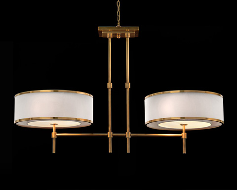 John Richard Collection - Brass Banded Chandelier - AJC-8906