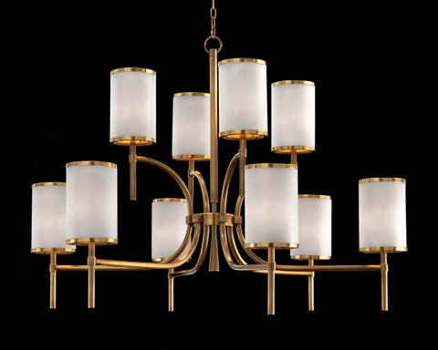 John Richard Collection - Brass Banded Chandelier - AJC-8908