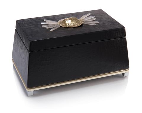 John Richard Collection - Black Box With Turtle Shell - JRA-10053