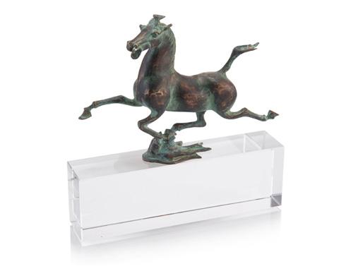 John Richard Collection - Tang Horse On Crystal - JRA-10097