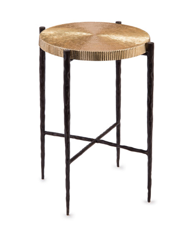John Richard Collection - Black Oxidized and Gold Accent Table - JRA-10139