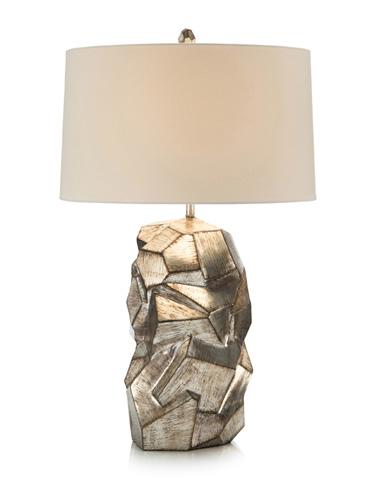 John Richard Collection - Faux Pyrite Silver Table Lamp - JRL-9289