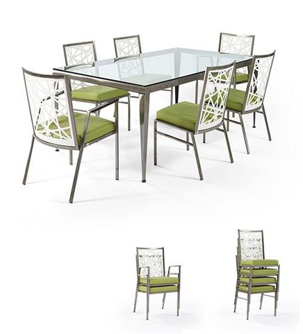 Johnston Casuals - Domino-Luca Dining Room Set - 0836B/SC1515/SC1511/GL4272