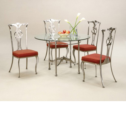 Johnston Casuals - Princeton Round Dining Set - 2733B/2711/GL49