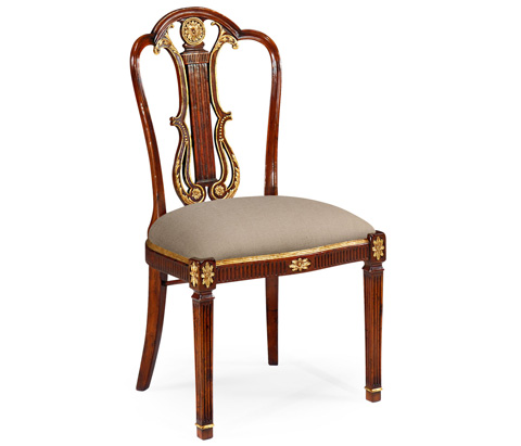 Jonathan Charles - Lyre Back Side Chair - 492836