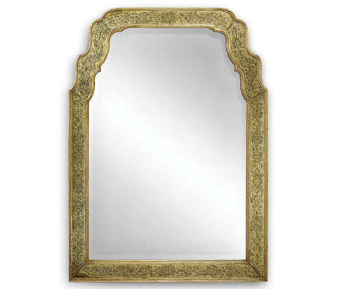 Jonathan Charles - Gold Eglomise Mirror - 492092
