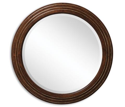 Jonathan Charles - Small Circular Stepped Surround Mirror - 492211