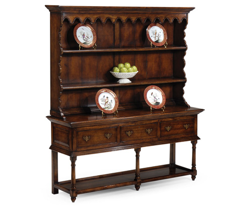 Jonathan Charles - Walnut Country Open Dresser - 492235